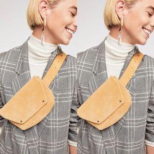 Free People Cecile Suede Belt Bag